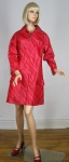Amazing Vintage 60s Red Swirly Spring Rain Coat