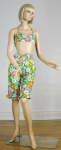 Flower Power Vintage 60s Bikini with Capri Pants