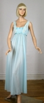 Gorgeous Vintage 50s Pale Aqua Nightgown