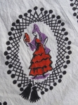 Flamenco Dancer Vintage 50s Novelty Print Summer Robe 06.jpg