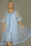 Sheer Vintage 60s Swiss Dot Night Gown and Peignoir Set