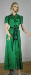 Stunning Vintage Late 30s Silk Jacquard Scenic Asian Dressing Gown 02.jpg